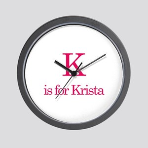 K is for Krista Wall Clock