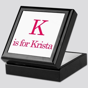 K is for Krista Keepsake Box