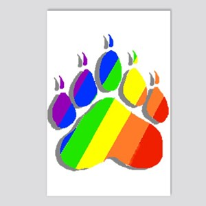 RAINBOW BEAR PAW--SHADOW Postcards (Package of 8)