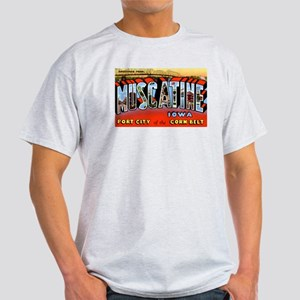 Muscatine Iowa Greetings (Front) Light T-Shirt