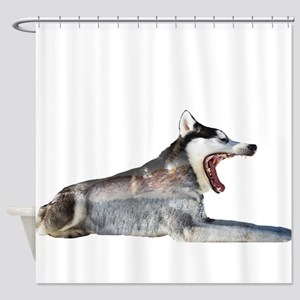 Husky Double Exposure Shower Curtain