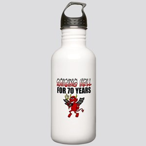Raising Hell For 70 Years Water Bottle