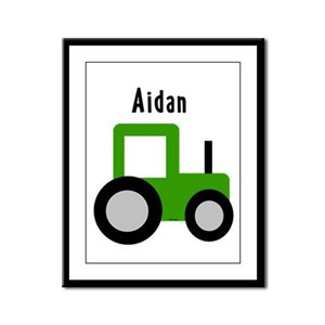 Aidan - Tractor Framed Panel Print