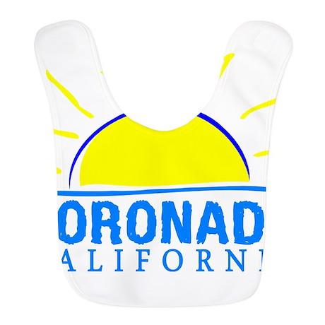 Summer coronado- california Polyester Baby Bib