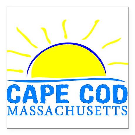 "Summer cape cod- massach Square Car Magnet 3"" x 3"""