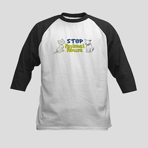 Stop Animal Abuse Kids Baseball Jersey
