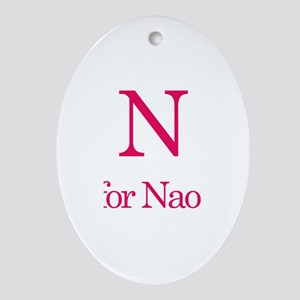 N is for Naomi Oval Ornament