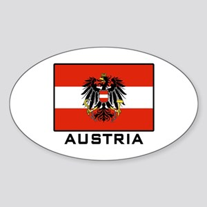 Flag of Austria Oval Sticker