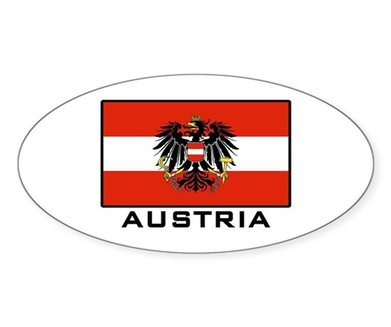 Flag of austria oval decal