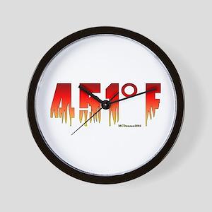 451 Degrees Fahrenheit Wall Clock