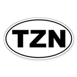 Tsintzina Euro Car Oval Sticker