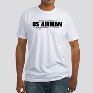 Red, white & blue AF Grandpa Fitted T-Shirt