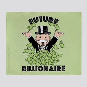 Monopoly Future Billionaire Throw Blanket