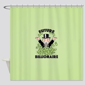 Monopoly Future Billionaire Shower Curtain
