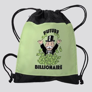 Monopoly Future Billionaire Drawstring Bag