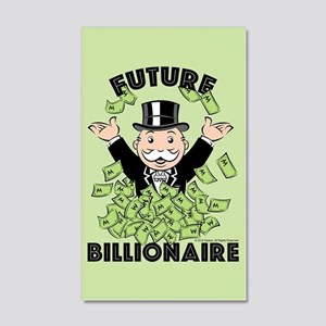 Monopoly Future Billionaire 20x12 Wall Decal