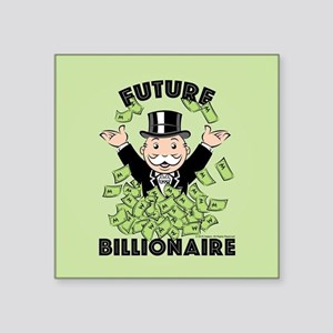 "Monopoly Future Billionaire Square Sticker 3"" x 3"""