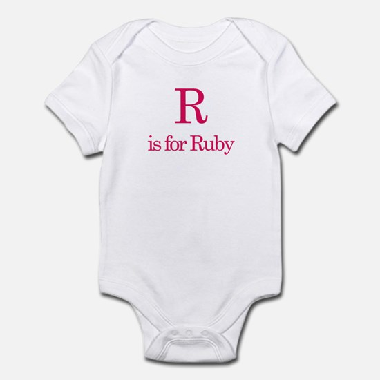 R is for Ruby Infant Bodysuit