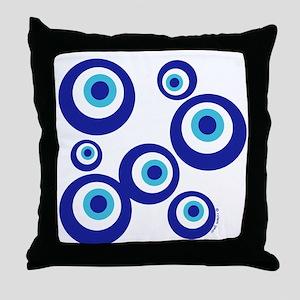 Mod Evil Eyes Throw Pillow