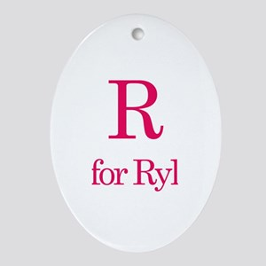 R is for Rylee Oval Ornament