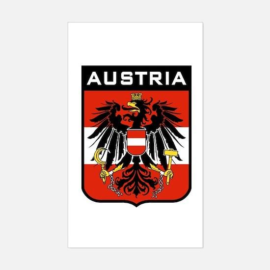 Austria Coat of Arms Rectangle Decal