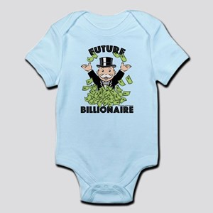 Monopoly Future Billionaire Baby Light Bodysuit