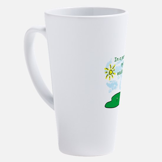 Cute Golfers 17 oz Latte Mug