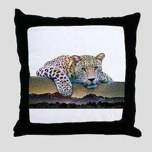 Leopard Double Exposure Throw Pillow