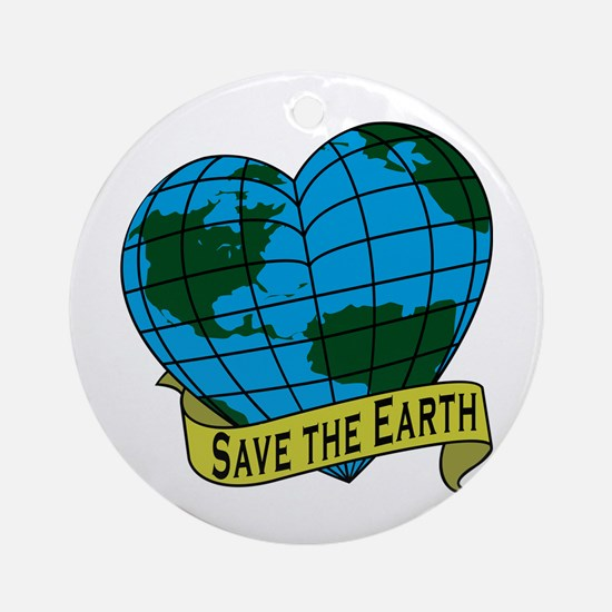 Save the Earth Ornament (Round)