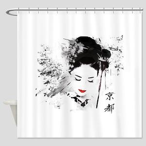 Kyoto Geisha Shower Curtain