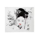 Geisha Fleece Blankets