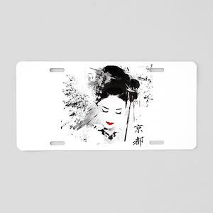Kyoto Geisha Aluminum License Plate