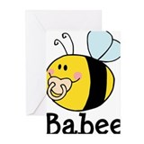 Baby bee Greeting Cards (20 Pack)
