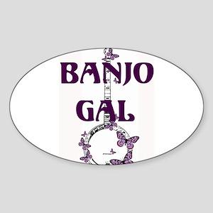 Butterfly Banjo Oval Sticker