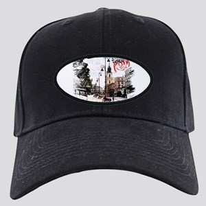 Poland Warsaw Black Cap with Patch