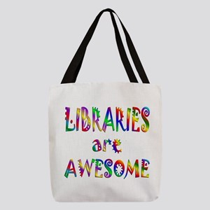 Libraries Are Awesome Polyester Tote Bag