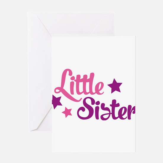 Little sister Greeting Cards