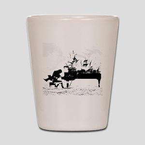 Piano Ships Shot Glass