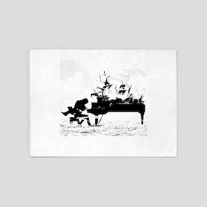 Piano Ships 5'x7'Area Rug