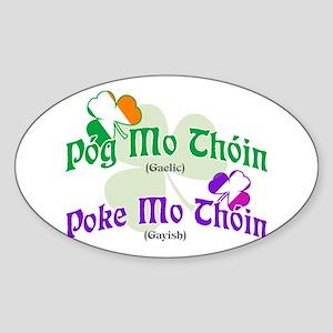 Poke Mo Thoin! Oval Sticker