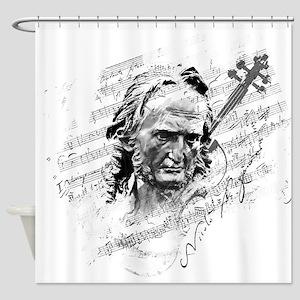 Paganini Violin Shower Curtain