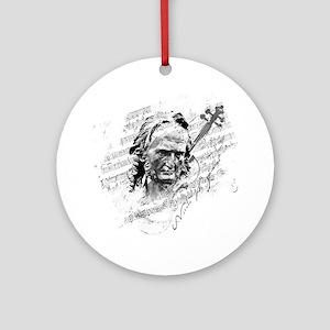 Paganini Violin Round Ornament