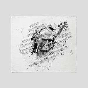 Paganini Violin Throw Blanket