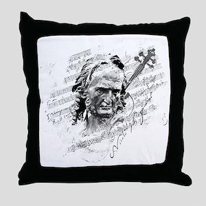 Paganini Violin Throw Pillow