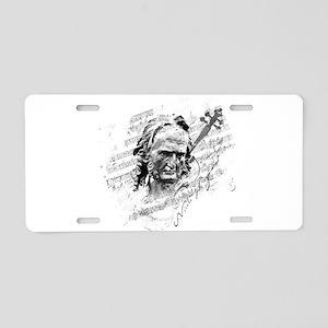 Paganini Violin Aluminum License Plate