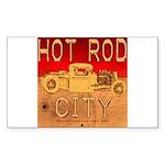 HOT ROD CITY Rectangle Sticker