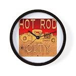 HOT ROD CITY Wall Clock