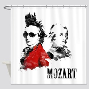 Wolfgang Amadeus Mozart Shower Curtain