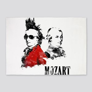 Wolfgang Amadeus Mozart 5'x7'Area Rug