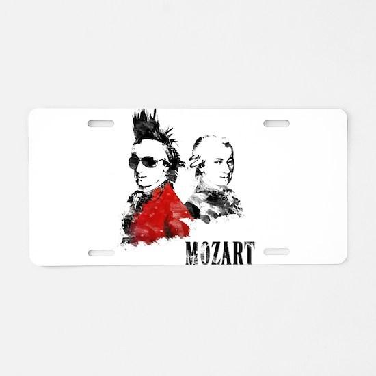 Wolfgang Amadeus Mozart Aluminum License Plate